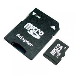 Micro SD 2GB + SD Adapter